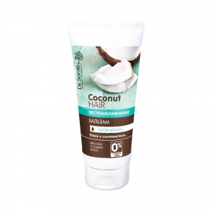 Coconut Hair Экстраувлажнение Бальзам для волос Блеск и шелк с маслом кокоса, 200мл