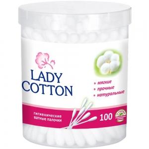Ватные палочки в банке Lady Cotton (100шт)