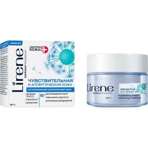 Здоровая Кожа Для чувствительной и аллергенной кожи Крем увлажняющий успокаивающий  SPF 6, 50мл