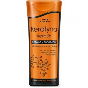 Keratin Кондиционер для волос с кератином для поврежденных непослушных и тусклых волос, 200г