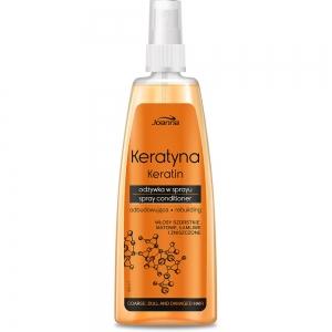 Keratin Кондиционер-спрей для волос с кератином для поврежденных непослушных и тусклых волос, 150мл