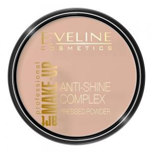 Пудра для лица Anti-Shine Coplex тон 35 золотой беж, матирующая минеральная с шелком, 14г