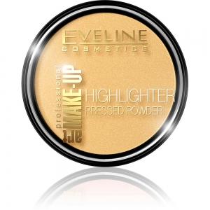 Пудра для лица и тела Highlighter тон 55 золотой, рассветляющая, 12г