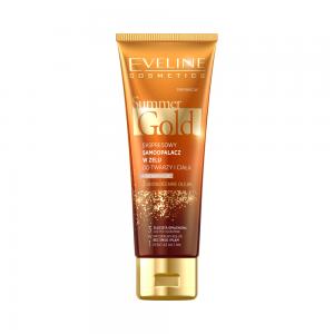 Гель-автозагар для лица и тела Summer Gold д/светлой кожи мгновенный 3в1, 100мл