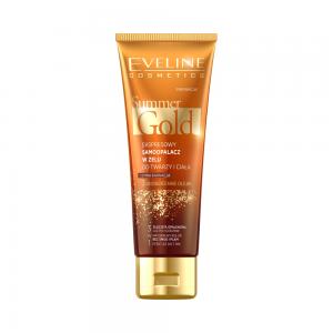 Гель-автозагар для лица и тела Summer Gold д/смуглой кожи мгновенный 3в1, 100мл