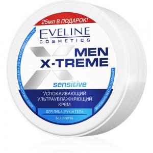 Men X-Treme Sensitive Крем для лица, рук и тела Успокаивающий ультраувлажняющий, 100мл
