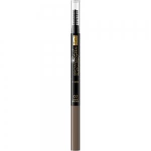 Стайлер для бровей 3в1 Brow Styler тон 02 темно-коричневый