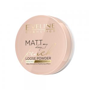 Пудра для лица Matt My Day Peach, рассыпчатая, матирующая, тон универсальный, 6г
