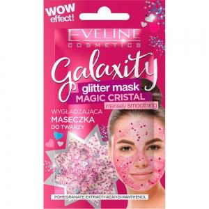 Galaxity Glitter Маска для лица гелевая  Интенсивно-разглаживающая  с блестящими частичками, саше 10мл