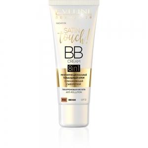Тональный крем Satin Touch BB Cream 8в1 тон 002 beige многофункциональный с увлажняющей сывороткой, 30м