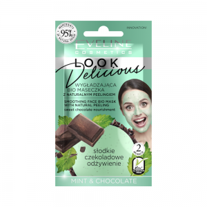 Bio маска для лица Look Delicious Разглаживающая с натур.скрабом Mint&Chocolate, 10мл