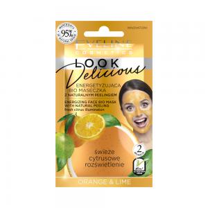 Bio маска для лица Look Delicious Энергизирующая с натур.скрабом Orange&Lime, 10мл