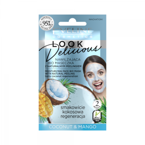 Bio маска для лица Look Delicious Увлажняющая с натур.скрабом Coconut&Mango, 10мл