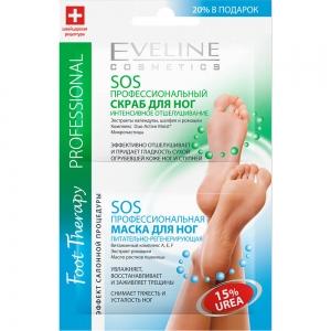 Foot Therapy рProfessional SOS Профессиональная маска для ног питание-регенерация+SOS Пофессиональный скраб отшелушивающий, 6мл(х2)