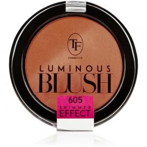 "Румяна пудровые для лица TBL-06-605C ""Luminous Blush"" с шиммер эффектом тон 605 ""розовый янтарь"""