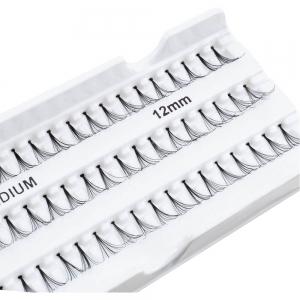 Пучки накладных ресниц Fashion Lashes, арт. М202, 12мм Medium черные
