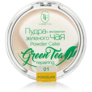 """Пудра компактная для лица """"Green Tea"""" TP-16-01C, тон 01 фарфоровый"""