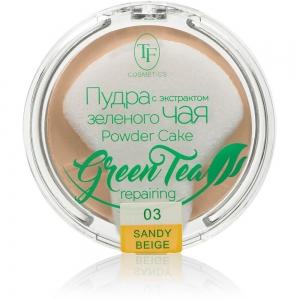 """Пудра компактная для лица """"Green Tea"""" TP-16-03C, тон 03 песочный беж"""