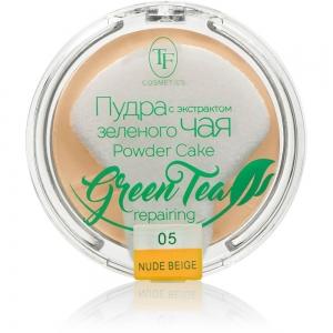 """Пудра компактная для лица """"Green Tea"""" TP-16-05C, тон 05 естественный беж"""