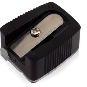 Точилка для косметический карандашей TS-02 одинарная, со стиком и контейнером