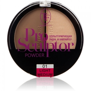 """Пудра для лица """"Pro Sculptor Powder"""" TP-13-01C, тон 01 """"light medium"""""""
