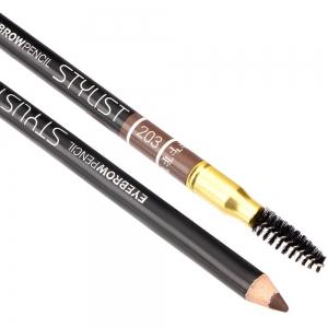 "Карандаш для бровей W-214-203C тон №203 ""Eyebrow Pencil Stylist"" со щеточкой ""теплый блонд"""