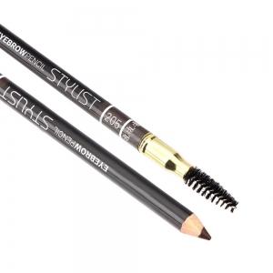 """Карандаш для бровей W-214-205C тон №205 """"Eyebrow Pencil Stylist"""" со щеточкой """"коричневый"""""""