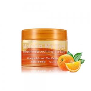 Патчи для глаз с экстрактом апельсина и зеленым чаем, тканевые, 36шт