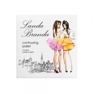 """Landa Branda, Палетка для контуринга """"Совершенный результат"""" (4 оттенка) Morning breeze"""