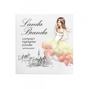 "Landa Branda, Компактная пудра-хайлайтер ""Сияющая кожа"" pink pearls, тон 52"