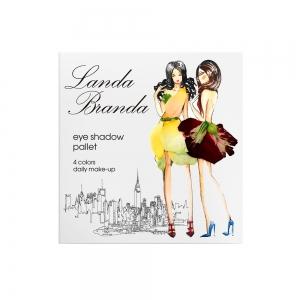 Landa Branda, Палетка теней 4 тона (Lilac garden) розовый кварц/ аметист/ розовый нюд/ коричневый
