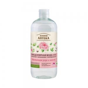 Мицеллярная вода Мускатная роза и хлопок 3в1, 500мл