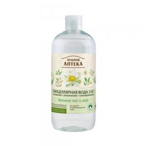 Мицеллярная вода Зеленый чай и алоэ 3в1, 500мл