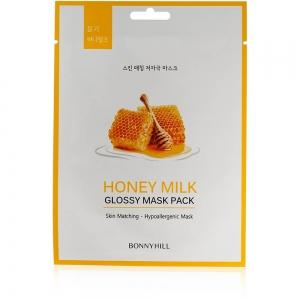 """Маска для лица придающая сияние Bonny Hill """"Honey Milk"""", 23г"""
