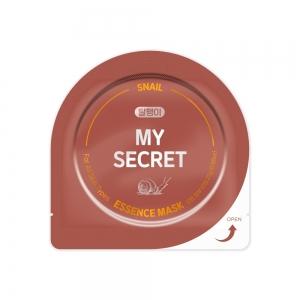 """My Secret Маска д/лица """"Snail"""" с экстр.секрета улитки омолаживающая, тканевая, 25г"""